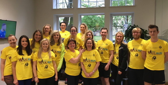 Carson McDowell take part in the Law Society of Northern Ireland's Legal 5K Walk/Run in support of Marie Curie