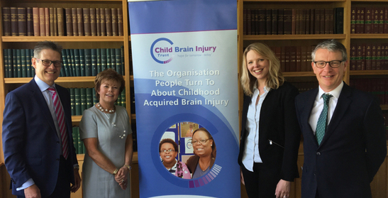 Cheque handover to charity partner Child Brain Injury Trust