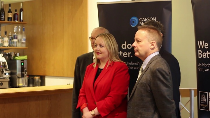 Carson McDowell partner with IOD Northern Ireland - Connect and Influence event
